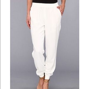 Joie Mariner crepe trousers- S in white